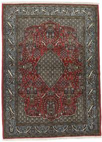 Kom Kork/Jedwab Dywan 113X154 Orientalny Tkany Ręcznie Ciemnoszary/Czarny (Wełna/Jedwab, Persja/Iran)