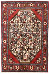 Koliai Dywan 128X190 Orientalny Tkany Ręcznie Ciemnoczerwony/Ciemnobrązowy (Wełna, Persja/Iran)