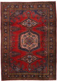 Wiss Dywan 212X310 Orientalny Tkany Ręcznie Ciemnoczerwony/Ciemnobrązowy/Rdzawy/Czerwony (Wełna, Persja/Iran)