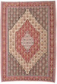 Kilim Senneh Dywan 202X298 Orientalny Tkany Ręcznie Beżowy/Brązowy (Wełna, Persja/Iran)