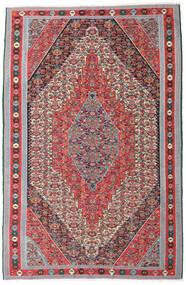Kilim Senneh Dywan 169X257 Orientalny Tkany Ręcznie Jasnoszary/Brązowy (Wełna, Persja/Iran)