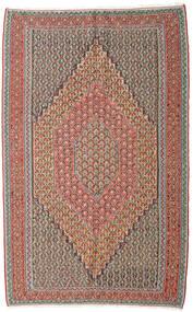 Kilim Senneh Dywan 152X245 Orientalny Tkany Ręcznie Jasnoszary/Ciemnoczerwony (Wełna, Persja/Iran)