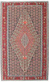 Kilim Senneh Dywan 150X248 Orientalny Tkany Ręcznie Jasnoszary/Ciemnobrązowy (Wełna, Persja/Iran)