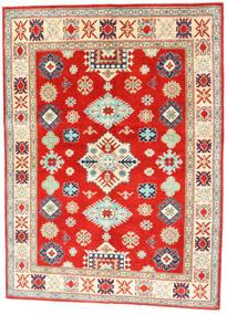Kazak Dywan 150X204 Orientalny Tkany Ręcznie Czerwony/Ciemnobeżowy (Wełna, Afganistan)