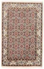 Moud Dywan 57X90 Orientalny Tkany Ręcznie Ciemnobrązowy/Jasnobrązowy (Wełna/Jedwab, Persja/Iran)