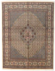 Moud Dywan 150X194 Orientalny Tkany Ręcznie Jasnobrązowy/Jasnoszary/Ciemnoszary (Wełna/Jedwab, Persja/Iran)