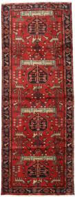 Hamadan Dywan 105X284 Orientalny Tkany Ręcznie Chodnik Ciemnoczerwony/Rdzawy/Czerwony (Wełna, Persja/Iran)