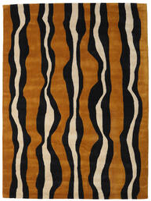 Tigre - Złoty/Beżowy Dywan 160X230 Nowoczesny Czarny/Brązowy (Wełna, Indie)