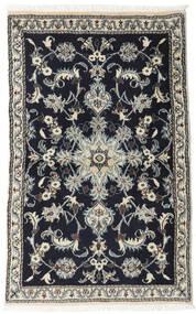 Nain Dywan 86X133 Orientalny Tkany Ręcznie Czarny/Jasnoszary (Wełna, Persja/Iran)