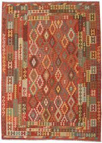 Kilim Afgan Old Style Dywan 249X344 Orientalny Tkany Ręcznie Pomarańczowy/Ciemnobeżowy (Wełna, Afganistan)