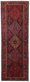 Hamadan Dywan 104X309 Orientalny Tkany Ręcznie Chodnik Ciemnoczerwony/Czarny (Wełna, Persja/Iran)