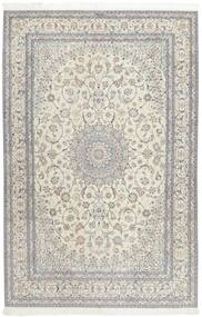 Nain 6La Dywan 207X317 Orientalny Tkany Ręcznie Jasnoszary/Ciemnobeżowy (Wełna/Jedwab, Persja/Iran)