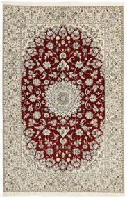 Nain 6La Dywan 156X241 Orientalny Tkany Ręcznie Jasnoszary/Beżowy (Wełna/Jedwab, Persja/Iran)