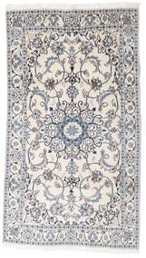 Nain Dywan 123X218 Orientalny Tkany Ręcznie Biały/Creme/Jasnoszary (Wełna, Persja/Iran)