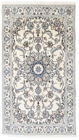 Nain Dywan 119X213 Orientalny Tkany Ręcznie Jasnoszary/Beżowy (Wełna, Persja/Iran)