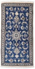 Nain Dywan 69X137 Orientalny Tkany Ręcznie Jasnoszary/Ciemnoniebieski (Wełna, Persja/Iran)