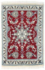 Nain Dywan 60X90 Orientalny Tkany Ręcznie Beżowy/Ciemnoczerwony (Wełna, Persja/Iran)