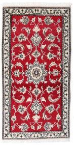 Nain Dywan 70X139 Orientalny Tkany Ręcznie Czerwony/Jasnoszary (Wełna, Persja/Iran)