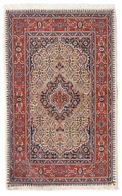 Moud Dywan 74X119 Orientalny Tkany Ręcznie Ciemnoczerwony/Beżowy (Wełna/Jedwab, Persja/Iran)