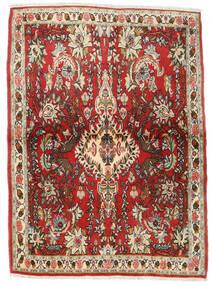 Senneh Dywan 107X150 Orientalny Tkany Ręcznie Ciemnobrązowy/Rdzawy/Czerwony (Wełna, Persja/Iran)