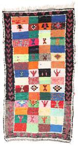 Berber Moroccan - Boucherouite Dywan 154X283 Nowoczesny Tkany Ręcznie Czarny/Jasnoszary ( Maroko)