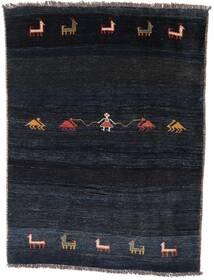 Gabbeh Rustic Dywan 127X166 Nowoczesny Tkany Ręcznie Ciemnoniebieski (Wełna, Persja/Iran)