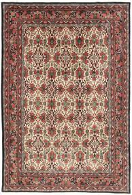 Bidżar Dywan 218X317 Orientalny Tkany Ręcznie Ciemnobrązowy/Ciemnoczerwony (Wełna, Persja/Iran)