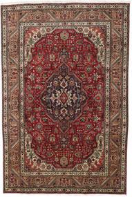 Tebriz Dywan 193X290 Orientalny Tkany Ręcznie Ciemnobrązowy/Ciemnoczerwony (Wełna, Persja/Iran)