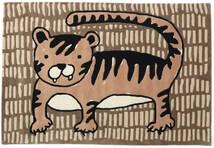Cool Cat - Beżowy Dywan 120X180 Nowoczesny Brązowy/Jasnobrązowy (Wełna, Indie)