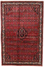 Asadabad Dywan 125X189 Orientalny Tkany Ręcznie Ciemnoczerwony/Ciemnobrązowy (Wełna, Persja/Iran)