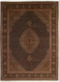 Tebriz 50 Raj Dywan 247X344 Orientalny Tkany Ręcznie Czarny/Ciemnobrązowy (Wełna/Jedwab, Persja/Iran)