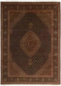 Tebriz 50 Raj Dywan 244X344 Orientalny Tkany Ręcznie Ciemnobrązowy/Brązowy (Wełna/Jedwab, Persja/Iran)