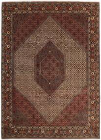 Bidżar Z Dodatkiem Jedwabiu Dywan 250X350 Orientalny Tkany Ręcznie Ciemnoczerwony/Brązowy Duży (Wełna/Jedwab, Persja/Iran)