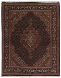 Tebriz 50 Raj Dywan 158X200 Orientalny Tkany Ręcznie Czarny/Ciemnobrązowy (Wełna/Jedwab, Persja/Iran)