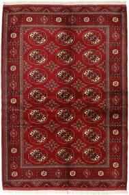 Turkmeński Dywan 136X200 Orientalny Tkany Ręcznie Ciemnoczerwony/Czerwony (Wełna, Persja/Iran)