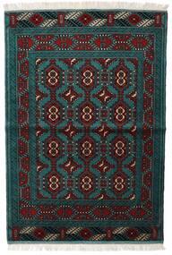 Turkmeński Dywan 105X150 Orientalny Tkany Ręcznie Czarny/Ciemny Turkus (Wełna, Persja/Iran)