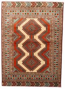 Turkmeński Dywan 125X172 Orientalny Tkany Ręcznie Ciemnoczerwony/Ciemnobrązowy (Wełna, Persja/Iran)