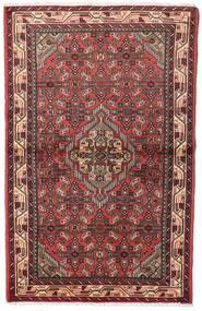 Asadabad Dywan 100X155 Orientalny Tkany Ręcznie Ciemnoczerwony/Brązowy (Wełna, Persja/Iran)