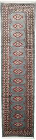 Pakistański Bucharski 2Ply Dywan 75X295 Orientalny Tkany Ręcznie Chodnik Ciemnoszary/Czarny (Wełna, Pakistan)
