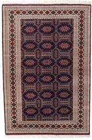 Turkmeński Dywan 134X197 Orientalny Tkany Ręcznie Ciemnoczerwony/Ciemnobrązowy (Wełna, Persja/Iran)
