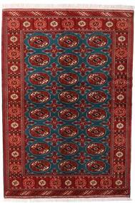 Turkmeński Dywan 132X195 Orientalny Tkany Ręcznie Ciemnoczerwony/Czarny (Wełna, Persja/Iran)