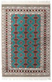 Turkmeński Dywan 135X198 Orientalny Tkany Ręcznie Beżowy/Jasnoszary (Wełna, Persja/Iran)