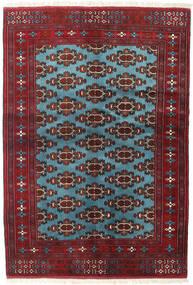 Turkmeński Dywan 133X190 Orientalny Tkany Ręcznie Ciemnoczerwony/Niebieski (Wełna, Persja/Iran)