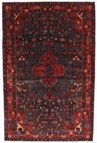Nahawand Dywan 156X245 Orientalny Tkany Ręcznie Ciemnoczerwony/Czarny (Wełna, Persja/Iran)