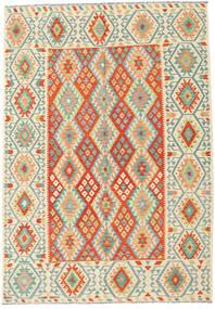 Kilim Afgan Old Style Dywan 209X298 Orientalny Tkany Ręcznie Beżowy/Pomarańczowy (Wełna, Afganistan)