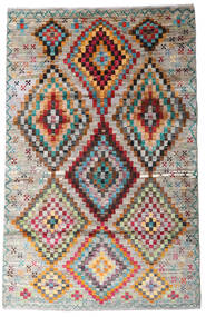 Moroccan Berber - Afghanistan Dywan 116X182 Nowoczesny Tkany Ręcznie Jasnoszary/Ciemnobrązowy (Wełna, Afganistan)
