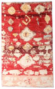 Moroccan Berber - Afghanistan Dywan 123X202 Nowoczesny Tkany Ręcznie Rdzawy/Czerwony/Ciemnoczerwony (Wełna, Afganistan)