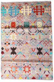 Moroccan Berber - Afghanistan Dywan 119X177 Nowoczesny Tkany Ręcznie Beżowy/Ciemnoszary (Wełna, Afganistan)