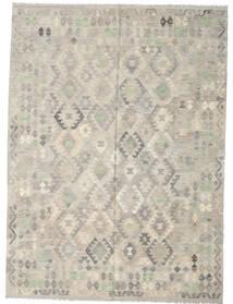 Kilim Afgan Old Style Dywan 207X280 Orientalny Tkany Ręcznie Jasnoszary (Wełna, Afganistan)
