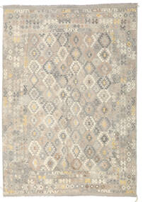 Kilim Afgan Old Style Dywan 246X349 Orientalny Tkany Ręcznie Jasnoszary/Ciemnobeżowy (Wełna, Afganistan)